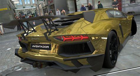 Lamborghini Aventador LP700 4 Gold Chrome Gran Turismo 5