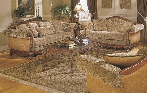 floral living room furniture barcelona 8299f 4pc sofa set in floral chenille by homelegance