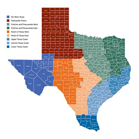 city map of texas by regions regional tournament map texas parks wildlife department
