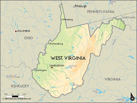 map of the west west virginia map toursmaps