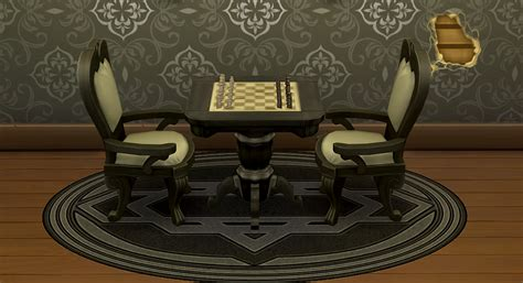 chess table chairs sims 3 my sims 4 grand chess table recolors by blindingechoes