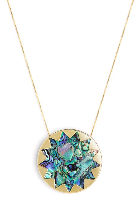 House Of Harlow Jewelry by House Of Harlow 1960 Abalone Sunburst Necklace In