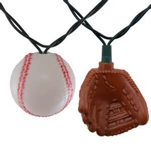 baseball string lights baseball and glove string lights