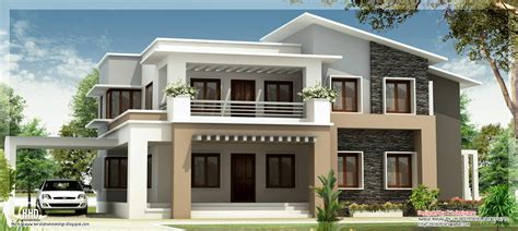 Modern Style Home Plans by Modern Mix Double Floor Home Design Indian House Plans