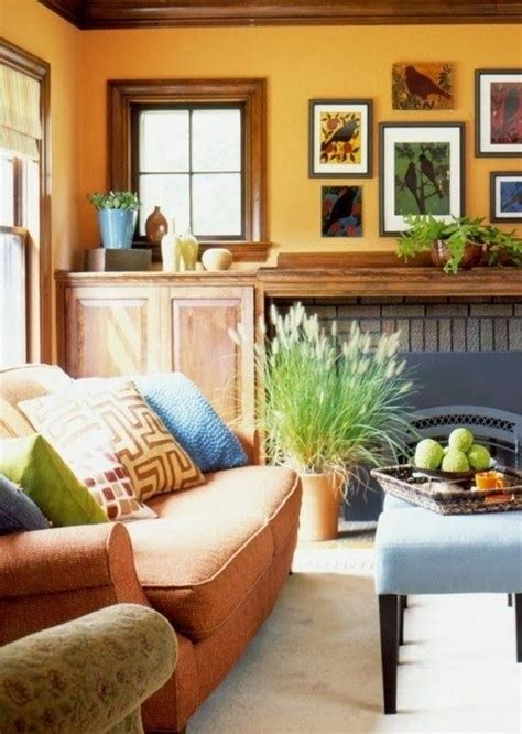 decor orange blue and gold living room my home decor