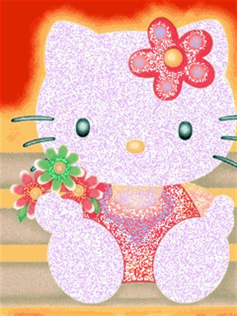 imagenes hello kitty movimiento hello kitty imagenes con flores