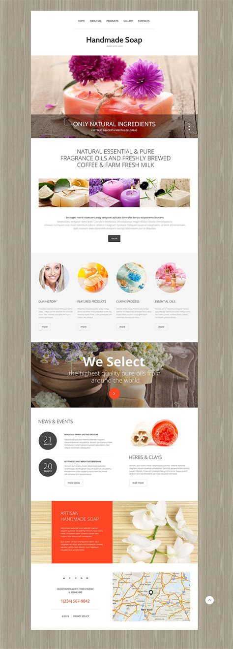 Handmade Soap Websites - handmade website template