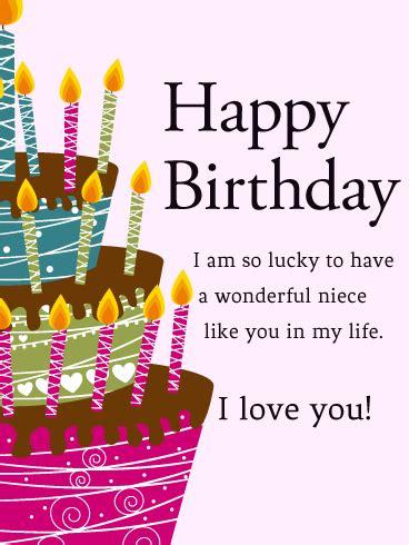 Birthday Card To My Niece Birthday Cards For Niece Birthday Greeting Cards By