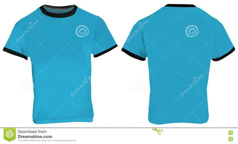 Blue Ringer T Shirt Stock Vector Image 75358945 Ringer T Shirt Template