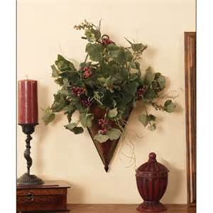 Ivy Home Decor by Metal Wall Sconce With Grape Ivy Floral Home Decor Florals