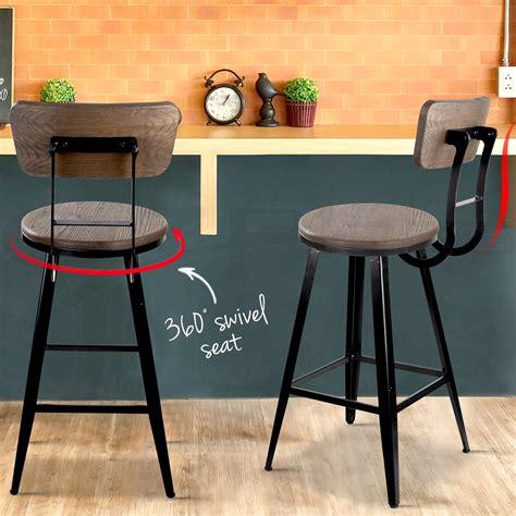 rustic outdoor swivel bar stools 2x vintage rustic bar stool retro swivel barstool