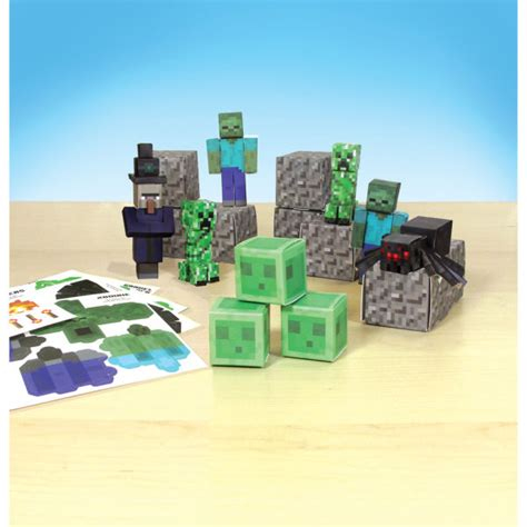 Minecraft Papercraft Set - minecraft papercraft 30 set hostile pack toys