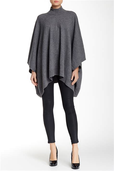 Theory Nordstrom Rack by Theory Florencia Lorywash Wool Blend Poncho Nordstrom Rack