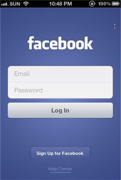 fb touch touch facebook login
