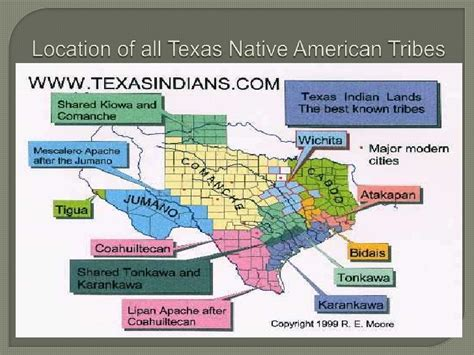 indian tribes in texas map texas americans