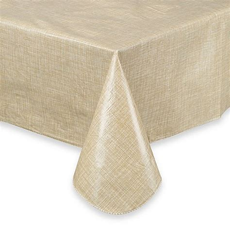 chagne color table cloth monterey vinyl tablecloth bed bath beyond