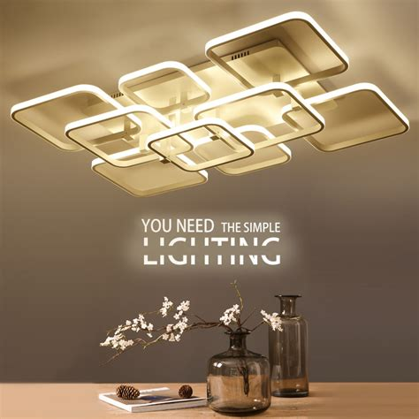 decorative led lights for ceiling square surface mounted modern led ceiling lights for