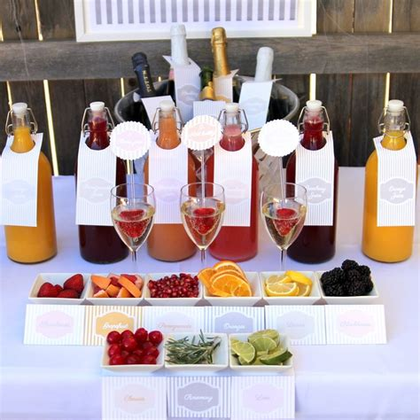 ingredients for a well stocked mimosa station parties by kojo pinterest a well next day
