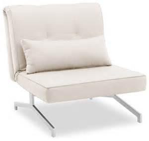 fauteuil convertible lit bz 1 personne blanc cass 233