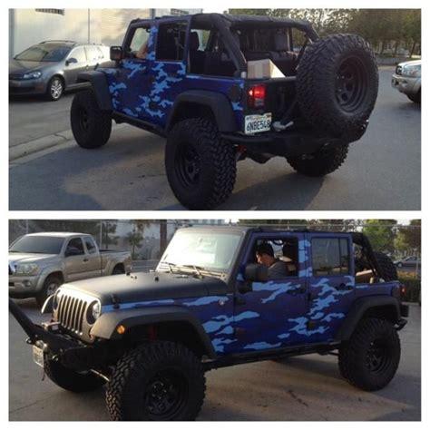 Blue Camo Jeep Jeep Blue Camo Jeeps And Camo