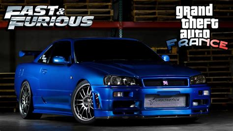nissan skyline r34 modified gta fast and furious nissan skyline gtr r34 custom tuned