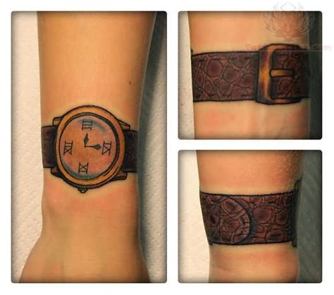 wrist watch tattoo