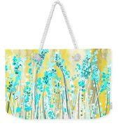 yellow and turquoise garden painting by lourry legarde turquoise and yellow art print by lourry legarde
