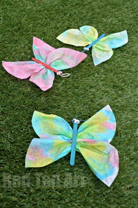 Preschool Crafts For Easy Butterfly by Coffee Filter Butterfly Crafts For Preschoolers