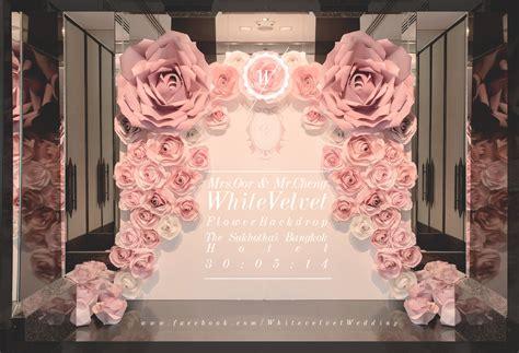 wedding backdrop decoration velvet is white