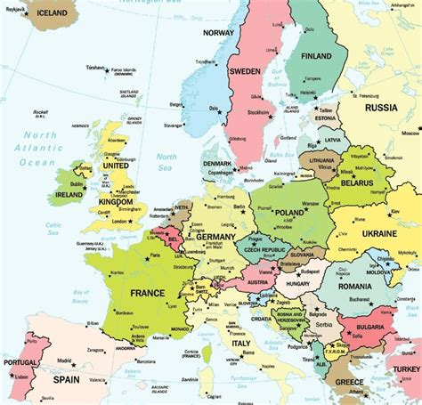 map showing europe map of europe showing major cities travel maps and major