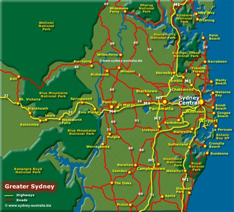 sydney map map of greater sydney surrounds