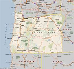 oregon state map showing cities oregon map