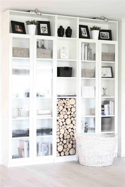 Horizontal Bookcase With Doors Billy Bookcases 4 With Glass Doors Ikea With One Horizontal On The Top For Added Height Take