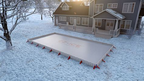 easy backyard ice rink the ez ice outdoor rink kit is easy to set up expand and