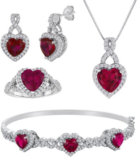 jcpenney jewelry lab created ruby and cubic zirconia