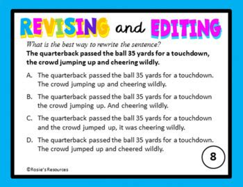 editing and revising worksheets free revising and editing task cards by rosie s resources