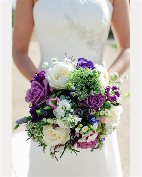 Purple Wedding Bouquets by Pretty To Miss Purple Wedding Bouquets Mon Cheri Bridals