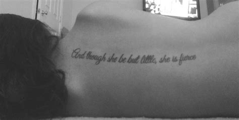 and though she be but little tattoo gallery and though she be but quote