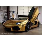 Gold Chrome Aventador Wrap  Wrapfolio