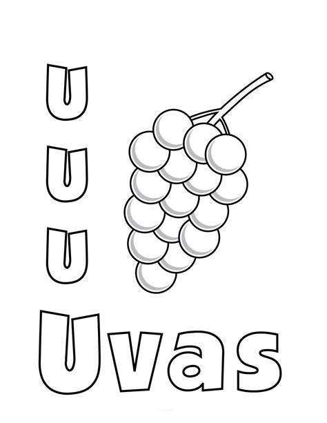 imagenes infantiles con la letra u dibujos para colorear que empiecen con la letra u