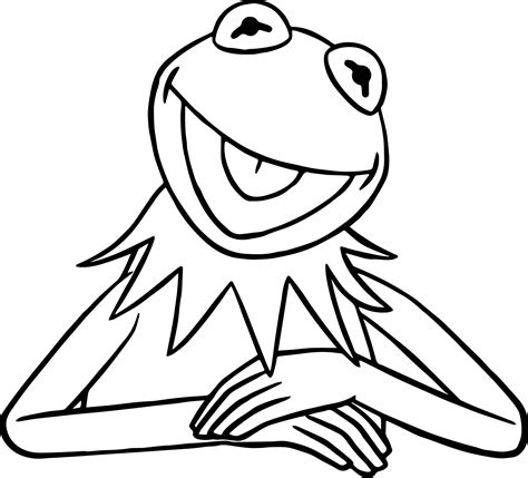 frog coloring page pdf the muppets kermit the frog coloring pages wecoloringpage