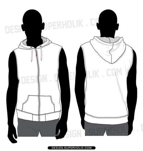 sleeveless hoodie design your own sleeve hellovector
