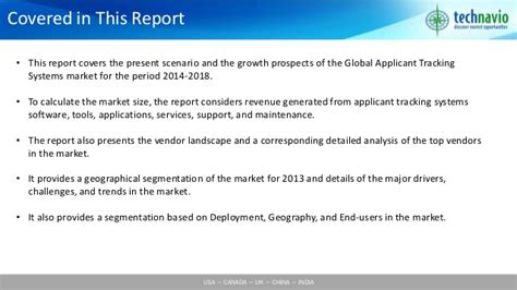 Applicant Tracking System India Global Applicant Tracking Systems Ats Market 2014 2018