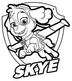paw patrol skye coloring page get coloring pages