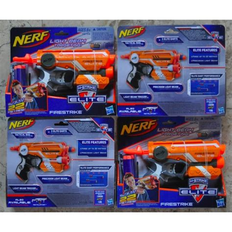 Nerf Elite Firestryke Blaster Pistol Mainan nerf elite firestryke blaster toysgraphy