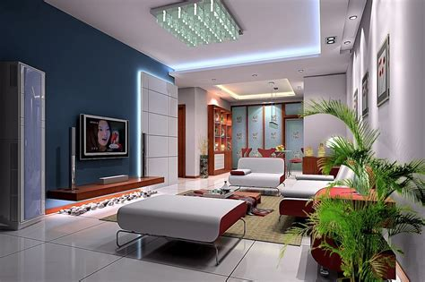 simple home interior design simple ceiling living room painted interior design 3d