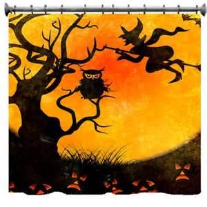 halloween shower curtain halloween scene shower curtain