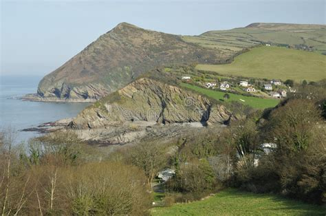 lester point and combe martin royalty free stock hangman point combe martin stock photo image of sand