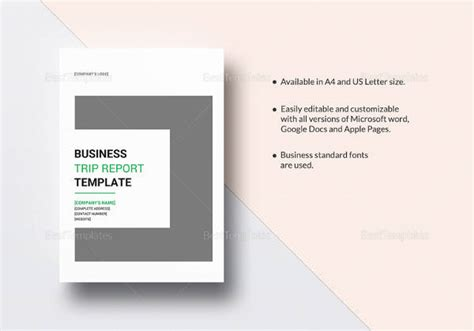 14 Sle Trip Reports Sle Templates Business Trip Template