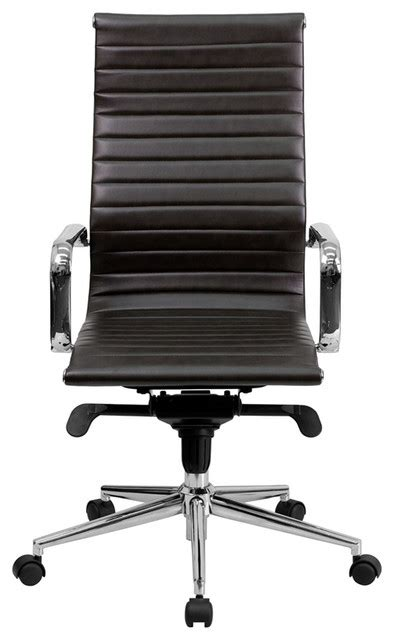 ribbed high back office chair high back ribbed upholstered leather executive swivel